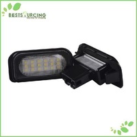 free shipping 1pairs 18 SMD 5050 Waterproof led car light  Led License plate lamp for Mercedes Benz W203 4D Sedan