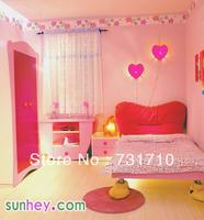 Free shipping wallpaper Pink Broadened thickening boeing film wood paste paper wallpaper pink sh5007