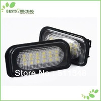 free shipping 5pairs Car Auto 18 SMD White LED License Plate Light Lamp bulb for Benz W203 4D Sedan C CLASS W203 2001-2007 AMG