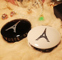 Exquisite Double sided fold makeup mirror Beauty little Portable mirror Paris Eiffel Tower elegance fashion gift for women
