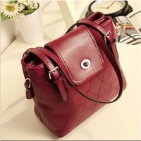 Free Shipping 2013 Fashion Popular Vintage Shoulder  Bag Dimond Plaid Bucket Bag Messenger  Handbag Bag For  Women