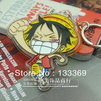 Free shipping ONE PIECE Monkey D Luffy keychain acrylic keychain