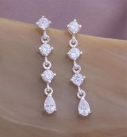 Alibaba china earrings zirconia earrings, ear rings for women silver 925 YAE107