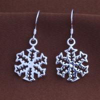 China wholesale Aliexpress snow white birthday earrings snow flower earring  YAE113
