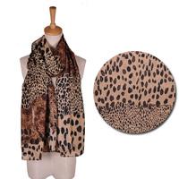 Sytlish Women's Long Soft Wrap Lady Shawl Silk Leopard Chiffon Scarf Scarves CY0380 Drop &Free Shipping