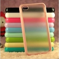 For iphone 5C TPU bumper with plastic cover free shipping