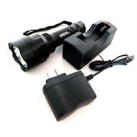3W Stainless High Light LED Lamp/Hand Torch Flashlight - Black