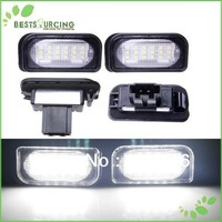 free shipping 5pairs W203 4D Sedan LED License plate Lamp/ licence frame lamp license plate light replacement for BENZ