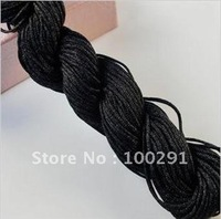 Wholesale (1mm/1.5mm )big black is A knitting rope line, very cheap!!(1 circle=25m),for bracelet and necklace!
