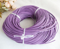 100 m(purple)2.0MM ROUND GENUINE LEATHER COWHIDE COWSKIN CORD STRINGS FOR PICK