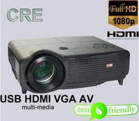 Hot Sale Free Shipping CRE X500 Home Theater HD 720P HDMI LED LCD Projector