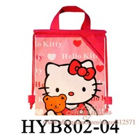 Hot selling,Mixed 4 styles ,12PCS Kitty  Bags Kid's School bag Cartoon Drawstring Backpack Bags,Cute cartoon
