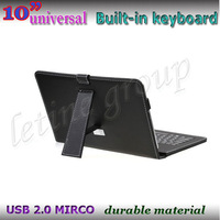 "10"" Universal USB Keyboard Leather Case  For All 10inch Tablet PC With Seven Colors 50PCS/Lot"