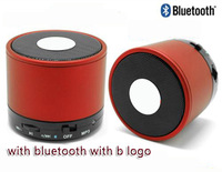 Free shipping wireless mini bluetooth speaker with b logo S10 portable speaker with Micro support answer calling and TF card