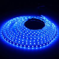 Blue led strip Waterproof 3528 12V DC 5M 300 LEDS SMD Flexible LED Lights Strip Free Shipping