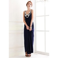 Women's Casual O-Neck Solid Ankle-Length Sleeveless Pleated  Dress - 22893200