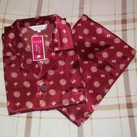High quality Men's silk sleep set long sleeve  sleepwear  twinset   Pajamas Nightgown   Free shipping