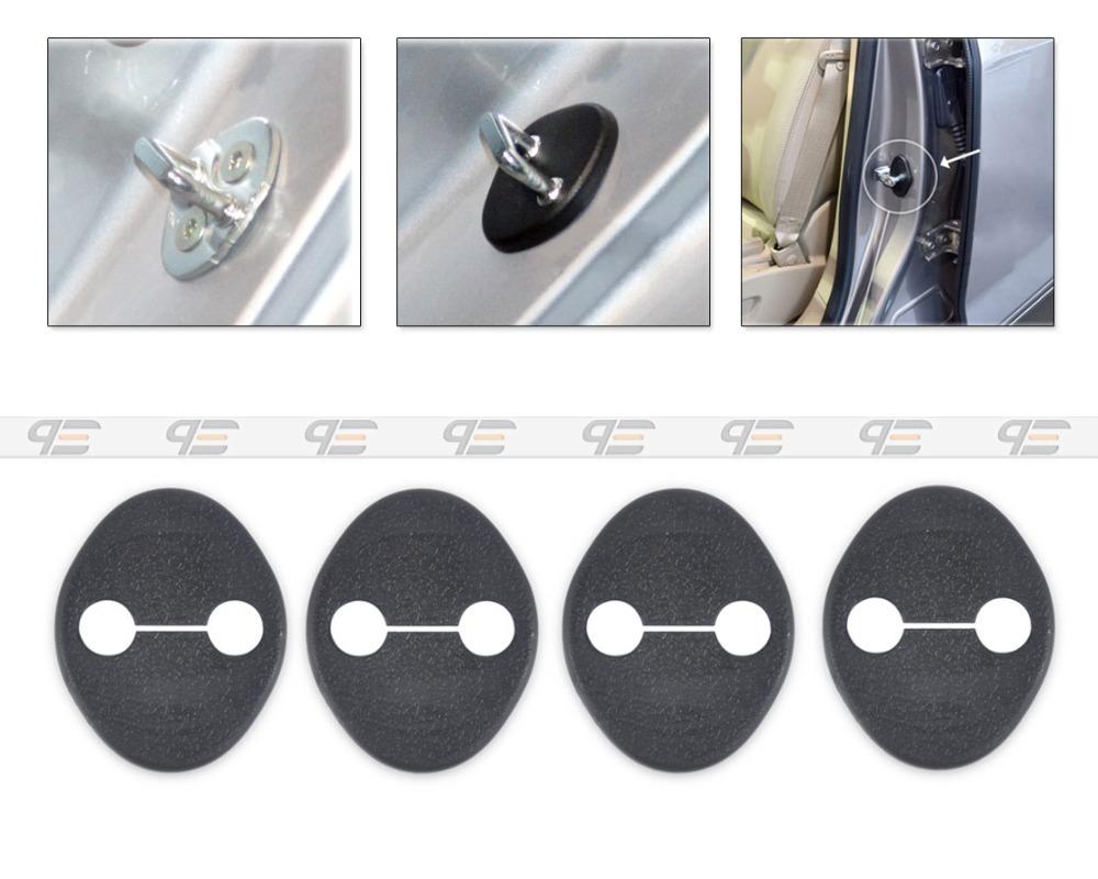 New 4PCS Car Door Striker Cover Lock Protector Antirust for Hyundai Elantra 2011+Kia Sportage 2010+Hyundai I30 2007+ CA01430(China (Mainland))
