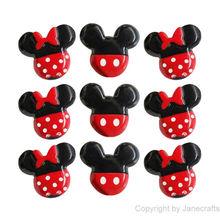 Atacado 50pc Mista Mickey / Minnie Mouse Resina Flatbacks Plano Voltar Scrapbooking arco de cabelo Centro de Artesanato Fazer(China (Mainland))