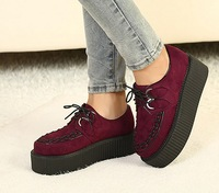 Free shipping 2013 wedges high heels fashion ladies casual punk women platform shoes woman lace-up party pumps 5 cm SXX35711