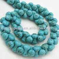 6x14mm Turquoise Beads - Nature Stone - Drum shape Semi-Precious Stone stone Strand 16''L=38cm/strand