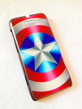 Captain America - Hard Back Case Shell Cover Protector for Motorola RAZR i XT890