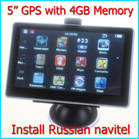 High Quality-5 inch Car GPS Navigation System With 4GB Memory  Preloaded Russian Navitel True Color Display Free Drop Shipping