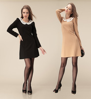2013 Hot sell autumn winter fashion one piece dress slim women's autumn dress long-sleeve skirt basic skirt free shipping