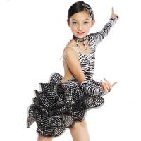 Latin dance skirt dress  clothes zebra print Latin dance costume fy064 for kids girl child