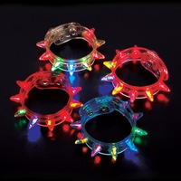 Flashing LED Multi-Colored Spike Bracelet Party Favor Light Up Jewelry #2218
