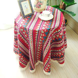 Dining table cloth bohemia fabric table cloth round table cloth tablecloth
