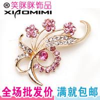 Brooch rhinestone pin corsage pins brooch crystal female needle