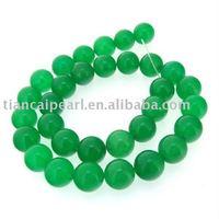 Green Jade Round Beads Gemstsone Strand 12mm Loose Nature Semi-Precious stone Strand 16''L=38cm/strand