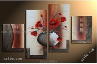 Oil Painting Hand Painted Free Shipping The Mangnolia Flower Oil On Canvas Wall Art Top Home Decoration 4Pcs Set