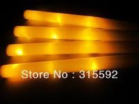 High Quality Free Shipping 360pcs/lot 3 modes yellow led foam stick light cheering glow foam stick for Christmas