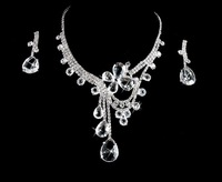 2013 new Fashion Luxury shining jewelry set for bride,rhinestone squares as decorations Woman necklaces & pendants