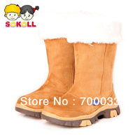 SoKoll Brand! High Quality Eco-friendly Young Girls Snow Boots Skidproof Boots