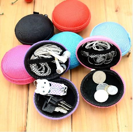 Portable earphones bag storage bag earphones box data cable bag earphones coin purse(China (Mainland))