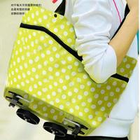Multifunctional wheeled bags folding wheeled bags portable shopping cart car travel bag shopping bag