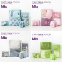Travel storage bag set full travel clothing multifunctional storage bag wash bag 4 cosmetic bag