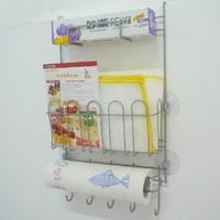 Kitchen refrigerator wall mount shelf rack multifunctional refrigerator finishing storage rack belt sucker