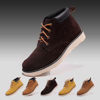Free shipping 2013 new fashion men's shoes snow boots high-top shoes genuine leather plus velvet cotton warm shoes three colors