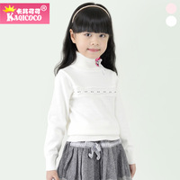 Children's clothing 2013 female child autumn khaki cocoa all-match turtleneck sweater basic child little princess basic shirt