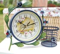 Flower single face clock fashion clock desktop clock vintage clock