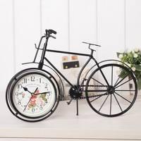 Bicycle style mute clock watch iron fashion clock office desk clock