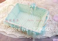 Water blue small receive basket basket of fruit basket of debris