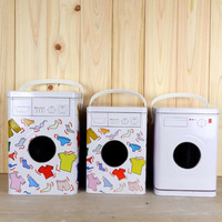 Free Shipping Metal laundry powder storage box bucket home storage tank storage bucket box rice bucket home