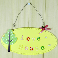 Free Shipping Handmade wool - personality door plate decoration finaning
