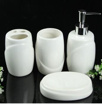 Free Shipping Piece set bathroom toiletries set cup brush set white ceramic bathroom decoration