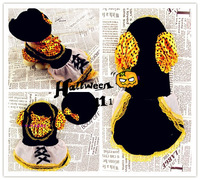 PET PRODUCTS HALLOWEEN WITCH COSTUME DOG CLOTHES YELLOW DRESSES PUPPY CLOTHING FREE SHIPPING